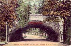 BRIDGE OVER DELAWARE AVENUE, BUFFALO, NY 1912