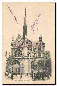 Old Postcard Paris Eglise Saint Laurent
