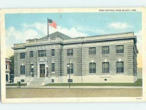 Linen POST OFFICE SCENE Pine Bluff - Near Little Rock Arkansas AR d8906