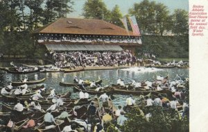 BOSTON, Massachusetts, 1900-1910s; Athletic Association Boat House, Water Sports