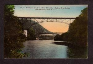 NY Popolopen Creek Bear Mountain Park, New York Postcard Hand colored PC