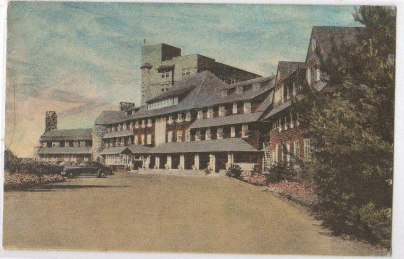 Pocono Manor Inn 1946 Hand Colored