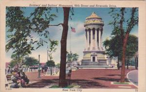 Soldiers And Sailors Monument 99th Street And Riverside Drive New York City 1953