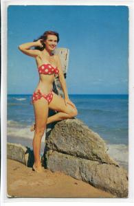 Bathing Beauty Woman Bikini Swimsuit Beach #4 postcard