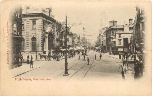 Vintage Postcard High Street Southampton Hampshire England UK