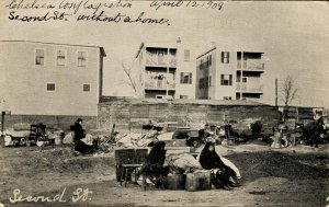 MA - Chelsea. The Great Fire, April 12, 1908. Second Street, Homeless