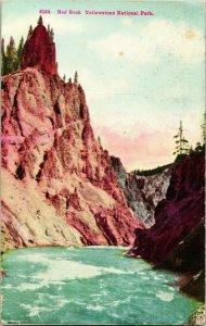 Vintage Cartolina Rosso Rock Grand Canyon Di Il Yellowstone Fiume National Park