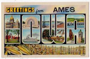 Large Letter, AMES IOWA