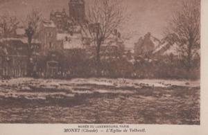 Claude Monet L'Eglise De Velheuil Luxembourg Museum Painting Postcard
