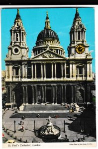 postcard ST. PAUL'S CATHEDRAL, LONDON John Hinde 1L32 posted 1982