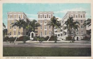 WEST PALM BEACH , Florida , 1910s ; Lake Court Apartments