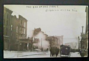 Mint Vintage 1909 Kalamazoo MI Burdick Hotel Fire End Ruins Real Photo Postcard