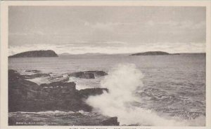 Maine Bar Harbor Surf On The Rocks Albertype