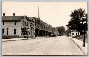 Preston Minnesota~Main Street~Laundry~Barber Shop~Bathroom~Bank~1920s Cars~RPPC