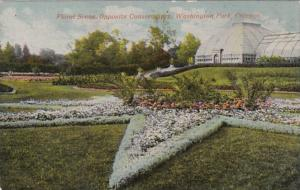 Illinois Chicago Floral Scene Opposite Conservatory Washington Park
