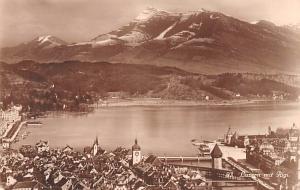 Switzerland Postcard Luzern mit Rigi