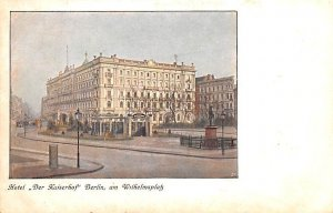 Hotel Der Kaiserhof Berlin Germany Writing on back