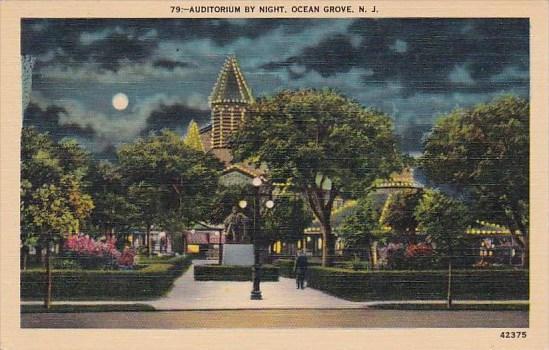 New Jersey Ocean Grove Auditorium By Night