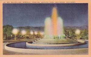 Mulholland Memorial Fountain Griffith Park Hollywood California