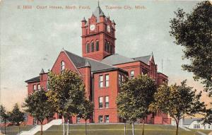 D76/ Traverse City Michigan Mi Postcard Court House North Front 1908