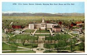 Colorado Denver Civic Center Showing New Court House and City Hall