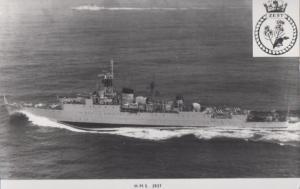 HMS Zest Navy Military War Ship Vintage Plain Back Postcard Old Photo