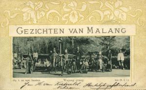 indonesia, JAVA MALANG, Wayang Wajang Orang Dancers (1905) Art Nouveau Postcard