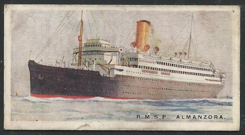 Canada 1924 Imperial Tobacco ALMANZORA Ships ot the World Cigarettes Card