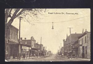 CANTON MISSOURI DOWNTOWN LEWIS STREET SCENE ANTIQUE VINTAGE POSTCARD MO.
