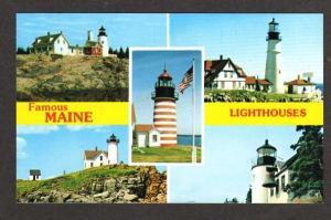 ME MAINE Lighthouses Pemaquid Nubble Bass Harbor PC