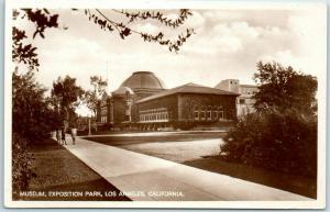 Los Angeles CA RPPC Photo Postcard Museum, Exposition Park c1910s Germany