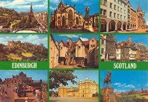 Edinburgh Princes Street St Giles Cathedral Castle White Horse Mound Postcard