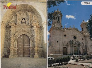 Potosi Bolivia Cathedral Temple 2x Postcard s