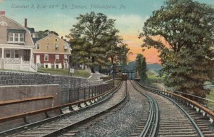 PHILADELPHIA , PA , 1900-10s ; Elevated Railroad , 66th Street Station