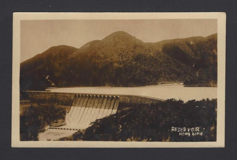 China Hong Kong Reservoir vintage real photo postcard