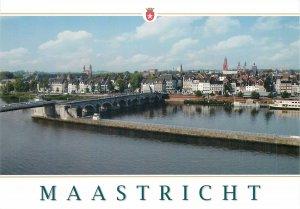 Postcard Netherlands Maastricht Panorma with St Servaasburg
