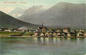 C-1910 NORWAY View Mandal Harbor postcard 2955