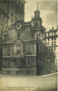 Boston MA ~ The Old State House ~ Massachusetts Postcard