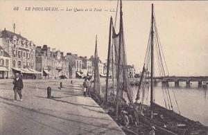 Fishing Boats, Les Quais Et Le Pont, Le Pouliguen (Loire-Atlantique), France,...