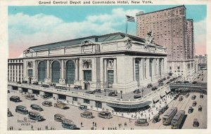NYC, New York , 1910s ; Grand Central Depot & Commodore Hotel