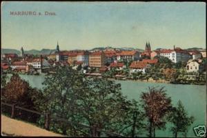 slovania, MARIBOR MARBURG a. Drau, Panorama (1921)