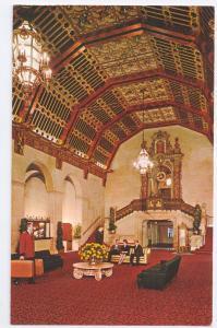 Biltmore Hotel Lobby Los Angelese CA ca 1972 Chrome