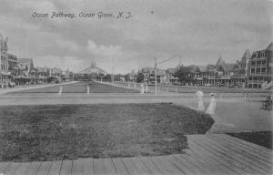 Ocean Grove New Jersey Pathway Boardwalk Antique Postcard K72453