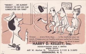 Harry D Kellet Dodge-Plymouth Sales & Service , GREENSBORO , North Carolina ,...