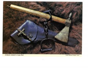 Artefacts of Louis Riel, Tomahawk, RCMP  Museum Interior, Regina, Saskatchewan