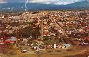 Aerial view San Jose Costa Rica Postal Used Unknown, Missing Stamp