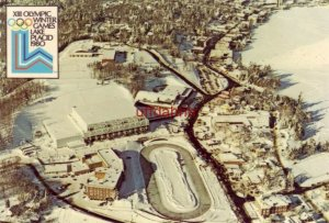 Aerial view of Village 1980 XIII WINTER OLYMPICS LAKE PLACID NY Continental-size