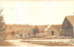 Center Montville ME Dirt Street View Wooden Swing RPPC Postcard