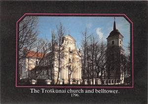 Lithuania The Troskunai Church and Belltower 1796