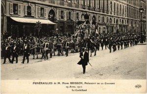CPA AK PARIS Funerailles de M. Henri BRISSON 1912 (971968)